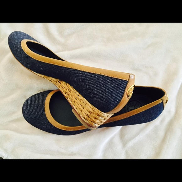 98ddc1aa2aabab Tory Burch Denim Wedges. M 5702acc956b2d6de940070b8