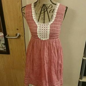 Coral elastic dress!