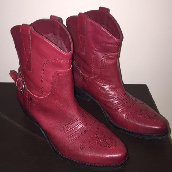 e3c51c5baba Franco Sarto Waco Short Western Cherry Boots