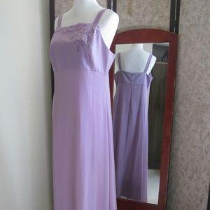 Adrianna Papell lavender full length formal dress