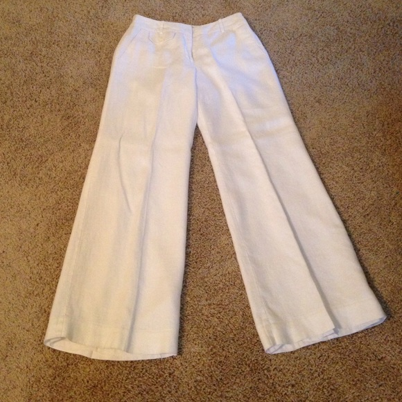 Worthington - White Worthington Lined Linen Pants from Nichole's ...