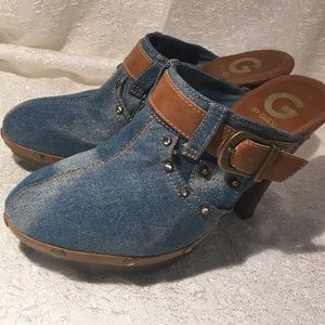 Guess denim wedges size 7.5