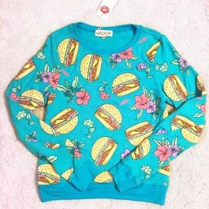 Wildfox Sweaters - 🆕NWT Wildfox Hamburger Floral Baggy Beach Jumper