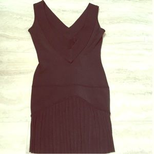 Bebe black dress XS deep v back
