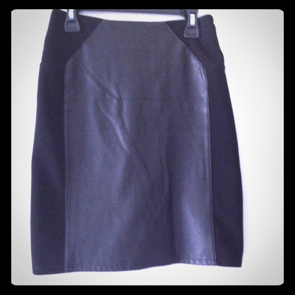 h m black leather pencil skirt from christine s closet