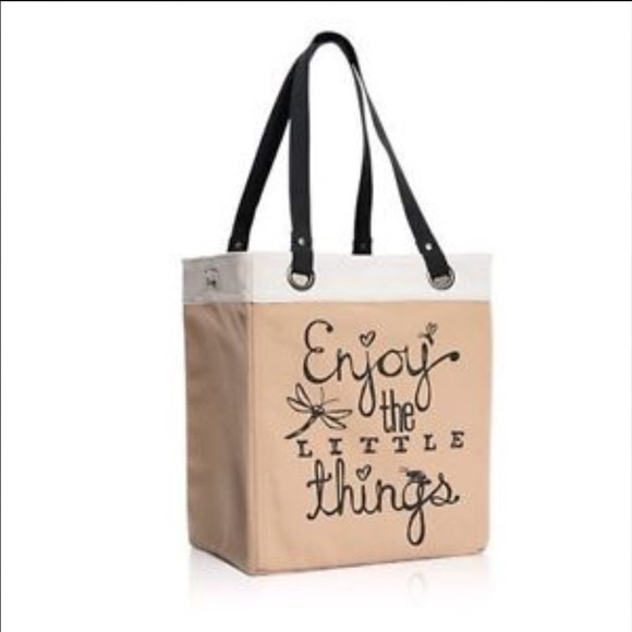 Enjoy The Little Things Canvas Purse
