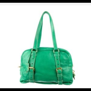 68% off Prada Handbags - Kelly green deerskin Prada Cervo Folding ...
