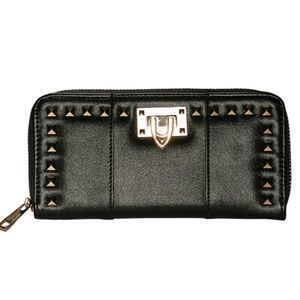 Handbags - Black Studded Wallet