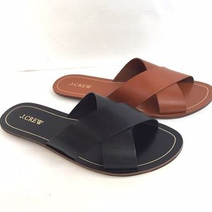 J. Crew Shoes - J. Crew Vachetta leather criss cross sandals 9