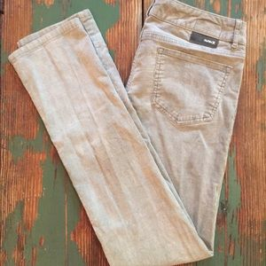 Hurley corduroy pants in grey
