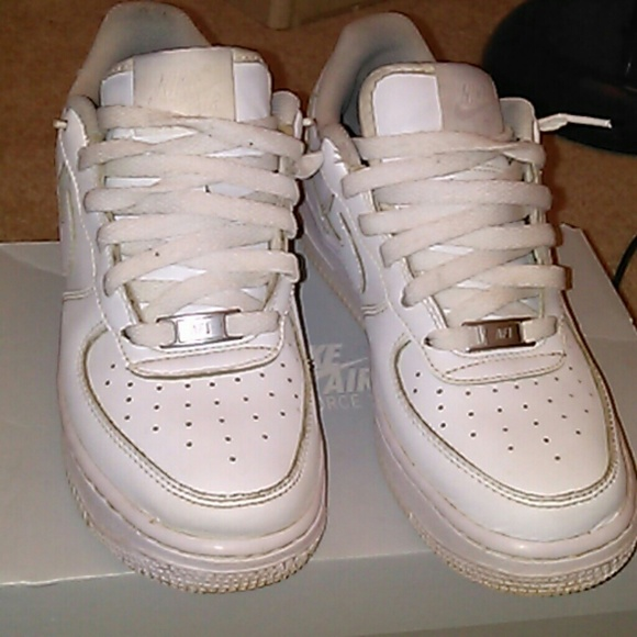 Nike Shoes All White Air Force 1 Low Top Poshmark