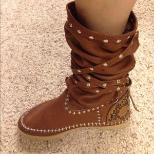 L Di R Of Florence Shoes Italian Moccasin Boots Poshmark