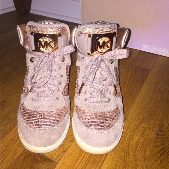4081ed5d0 Michael Kors Shoes | Rose Gold Sneakers | Poshmark