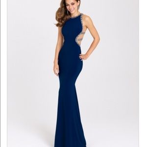 d755524079e Dresses   Skirts - Brand new navy fitted prom dress