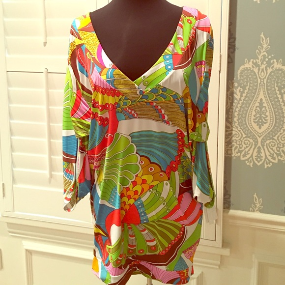 NWT TRINA TURK Moroccan Medallion Tunic//Cover-up Sizes S//M//L