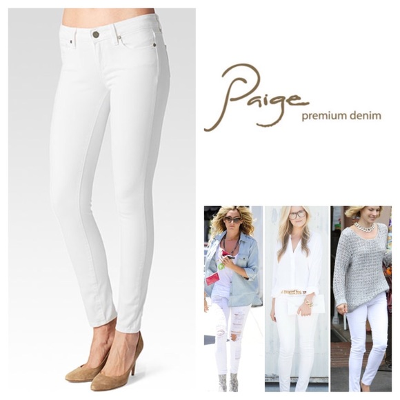 68% off Paige Jeans Denim - Paige White Verdugo Ankle Skinny Jeans ...