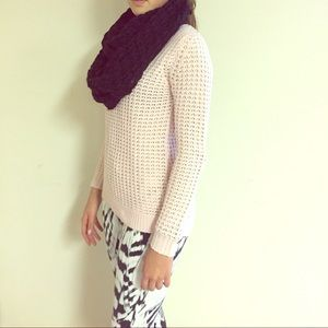 Light pink high low sweater
