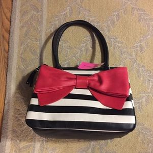 Red white and black Betsy Johnson bow purse!
