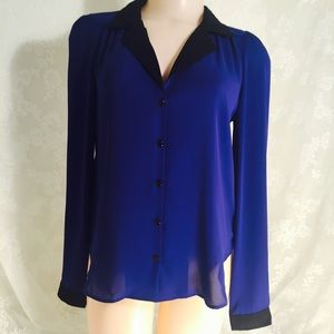 Royal blue with black blouse. FINAL CLEARANCE
