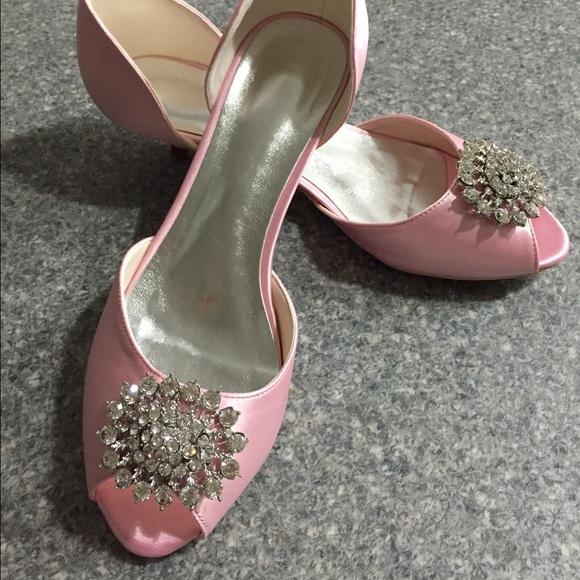 light pink low heels