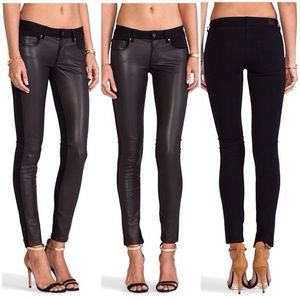 EMILY PONTE LEATHER PANT NWT RETAIL Size: 28 Paige