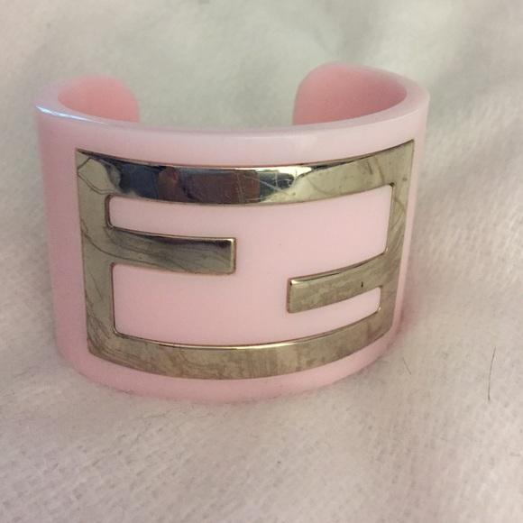 2f3ea3532d0 Fendi authentic logo cuff bracelet