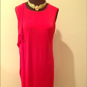 Red DKNY dress, with tags. Great for holidays!