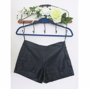 French Connection faux leather shorts!