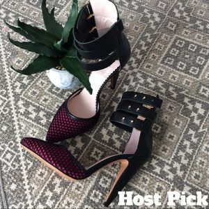 Missoni Shoes - DESIGNER D'Orsay Pumps Leather Cuff Heel NWT