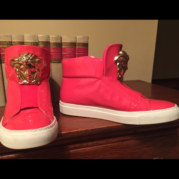 Hot Pink Versace Shoes Authorized