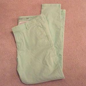 Gap Mint Green Khakis