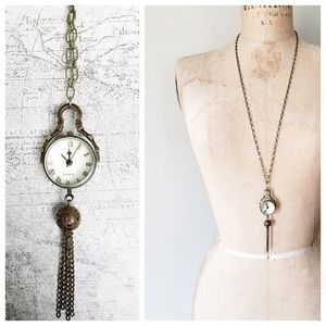 Cultiverre Jewelry - ✂️ S A L E > steampunk watch necklace