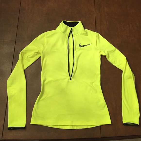 wholesale dealer e3c4f e57ba Neon yellow Nike Pro half-zip pullover