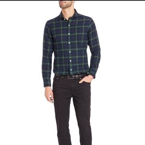 SOLD: Ralph Lauren plaid twill shirt in navy/green