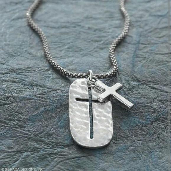Silpada Jewelry Symbol Of Strength Cross Necklace Poshmark