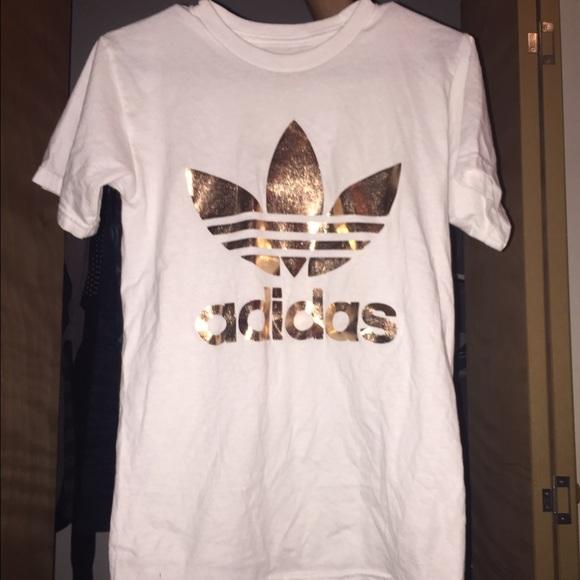 adidas t-shirt gold
