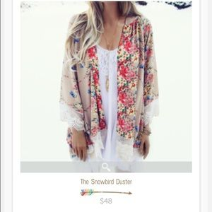 Spool 72 Tops - Floral and lace Kimono