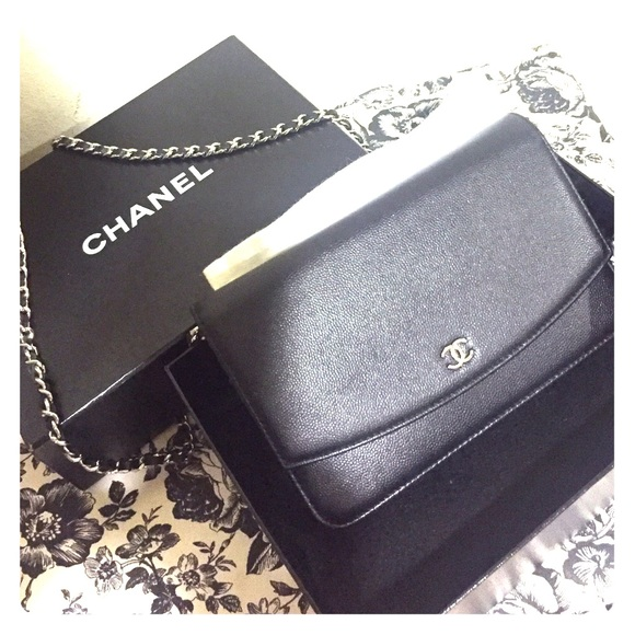 5753c54c0a47b2 CHANEL Handbags - Chanel wallet on chain (sevruga leather)