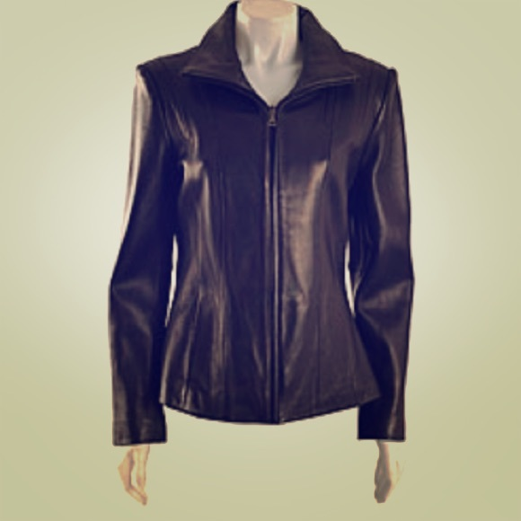 3a7a1dce9b6b1 Bromley Collection Jackets   Blazers - Bromley Women s Genuine Leather  Jacket