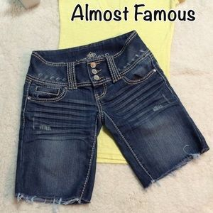 Almost Famous Pants - Almost Famous Cut Off Bermuda Shorts