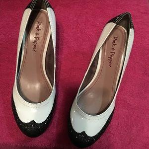 Pink & pepper heels.