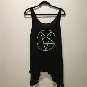 Urban outfitters loose black tank top