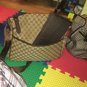 6ab5302bb23 Gucci Bags - Gucci diaper bag 100% authentic with changing pad
