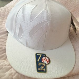 Other - All white New York Yankee hat