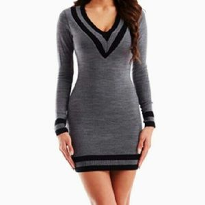 c0bd60ed21 Hera Collection Dresses - Varsity V-Neck Sweater Dress by Hera Collection
