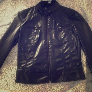 Zara Trf faux leather biker/bomber jacket