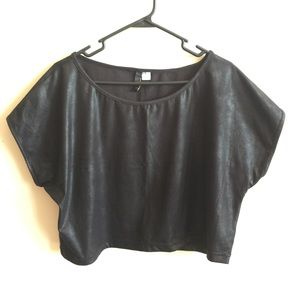Divided Tops - Shiny Crop Top