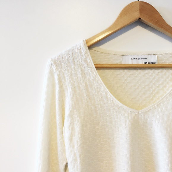 4cc05f9b56 | Zara | V Neck Basic Long Sleeve T-Shirts