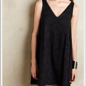 Anthropologie eyelet swing dress