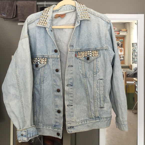75% off Levi&39s Denim - Vintage Jean Jacket with Studs from